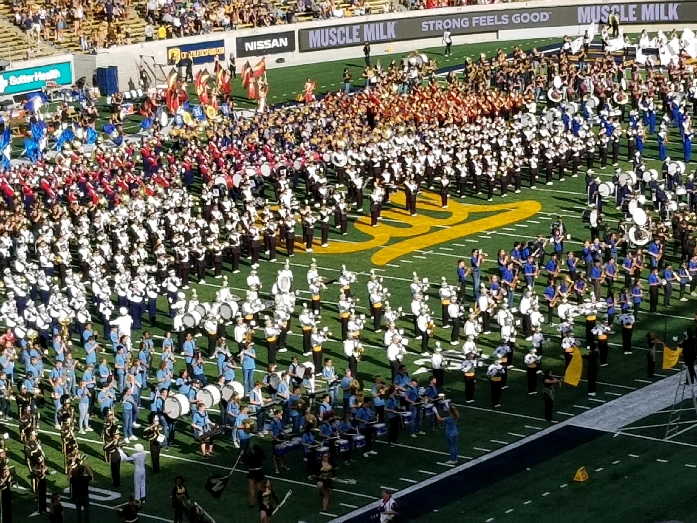 Cal Band Day Field Photo 2018