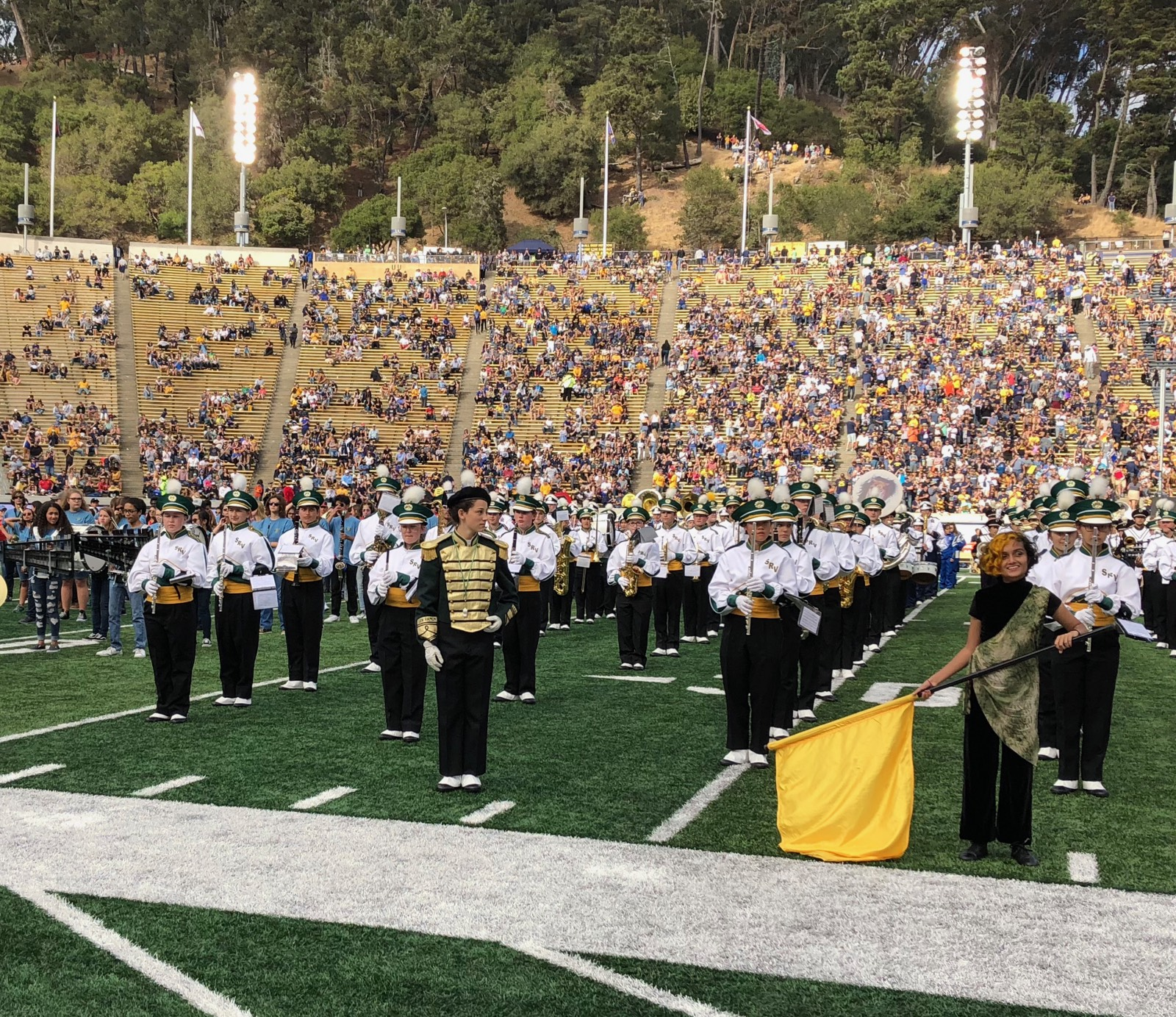 SRVHS Band at Cal 2018